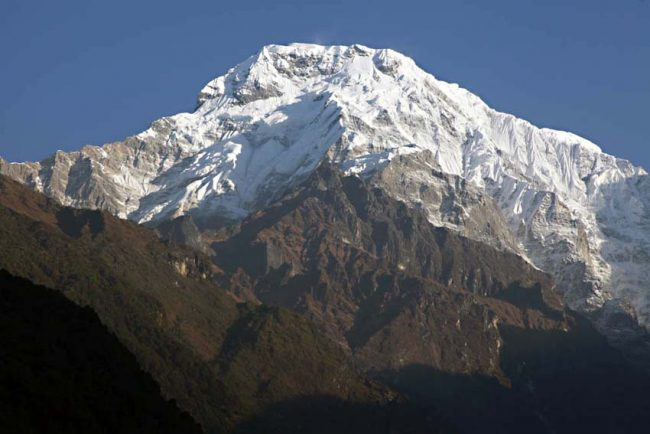 Annapurna South from Chomrong
