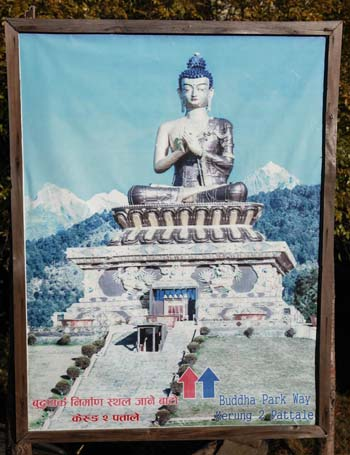 Poster Promoting Big Buddha at Pattale