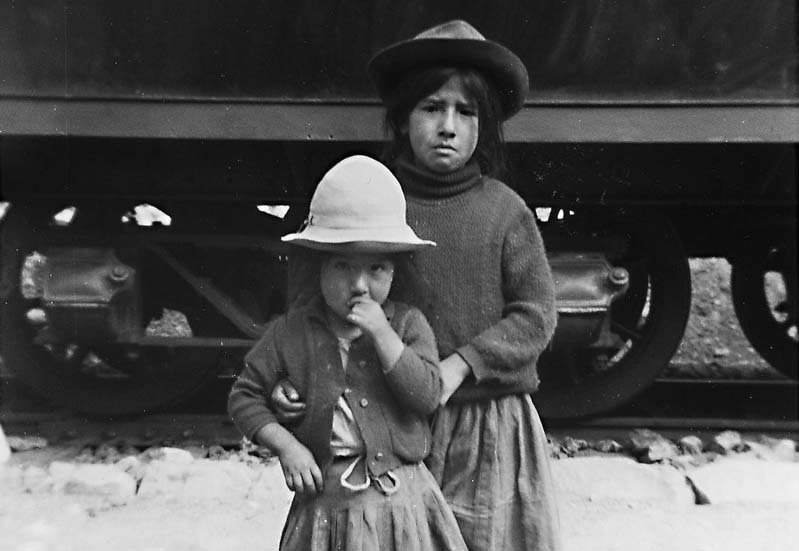 Poor Indian Girls by Train, Altiplano Peru 1974