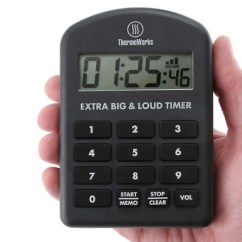 Kitchen Timer For Hearing Impaired Frosted Glass Cabinet Doors Extra Big Loud Breadtopia Rated