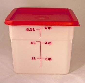 Dough and Storage Bucket wLid  6 qt Square  Breadtopia