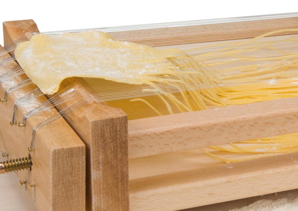 kitchen equipment list table white eppicotispai chitarra pasta cutter and roller | breadtopia