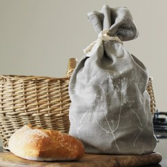 Wholesale Kitchen Supplies Floor Lino Cornish Linen Bread Bag | Breadtopia