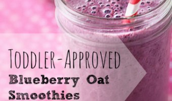 Toddler-Approved Blueberry Oat Smoothie