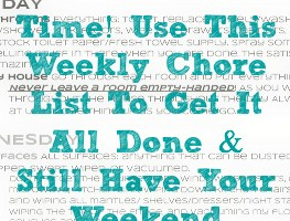 Daily Chore List to Get Your House Clean and Keep It There