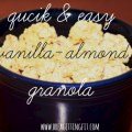 Easy homemade granola recipe to make ahead for breakfast.