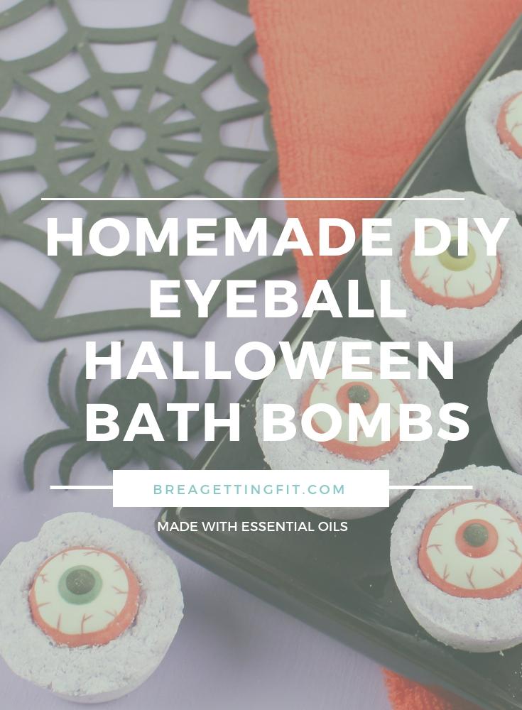 Easy Homemade DIY Eyeball Halloween Bath Bombs