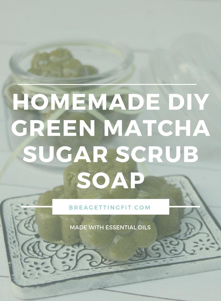 DIY Green Matcha Sugar Scrub Soap