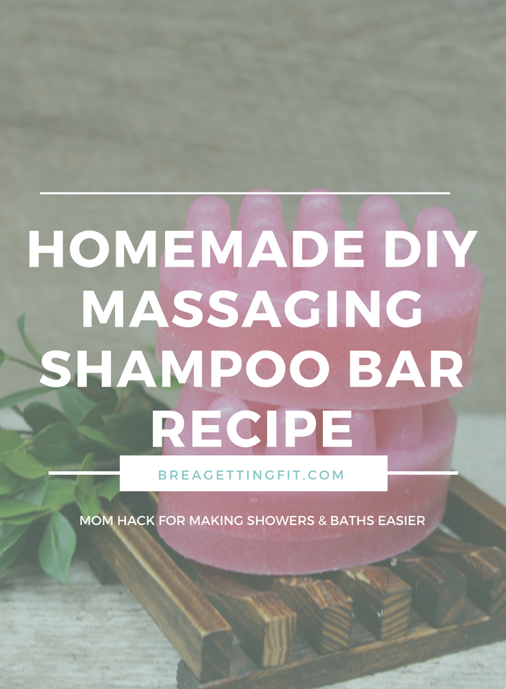 Homemade DIY Massaging Shampoo Bar Recipe