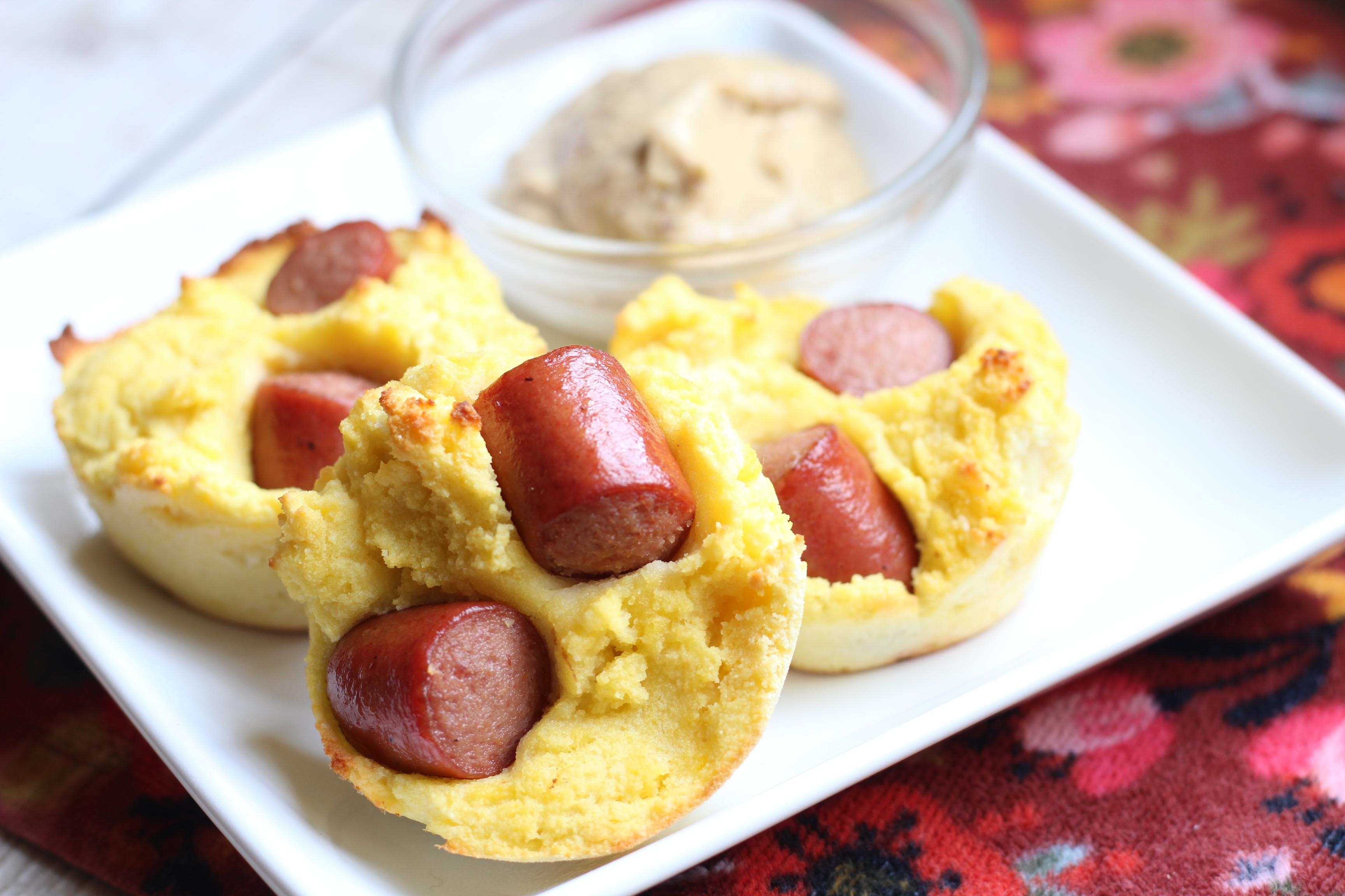 "low carb ""corn"" dog muffin recipe"