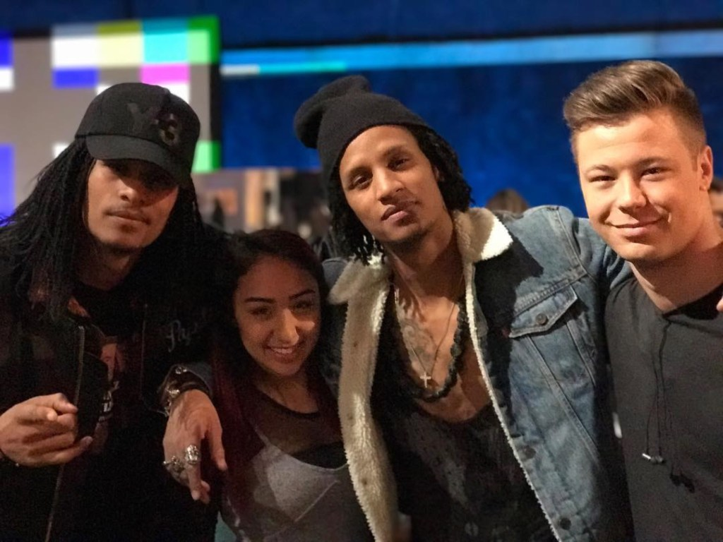 Luka & Jenalyn with Les Twins (Laurent and Larry Bourgeois) during NBC's World of Dance