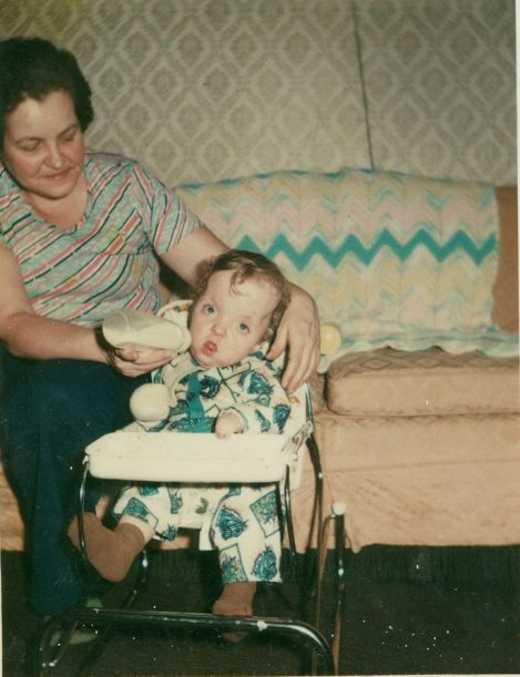 Dorsey with his mother as a child.