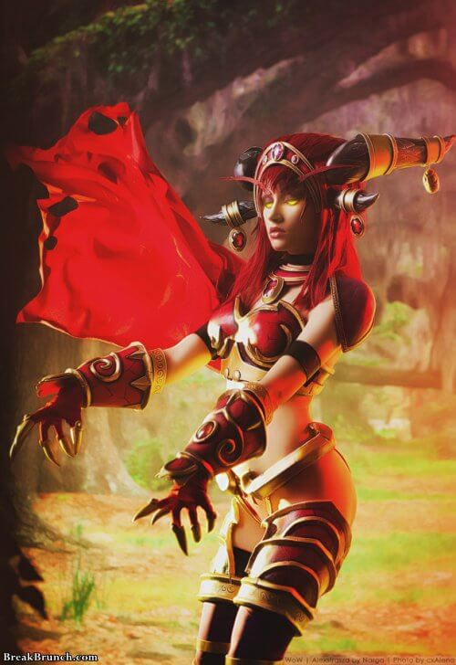 Anime Cosplay Girl Wallpaper Awesome Red Dragon Alexstrasza Cosplay From War Of
