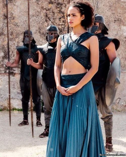 Game of Thrones Nathalie Emmanuel Missandei then and now