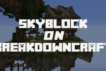 breakdowncraft skyblock multiplayer server launch