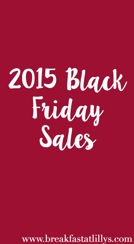2015 Black Friday Sales