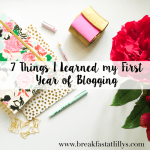7 Lessons I Learned my First Year of Blogging