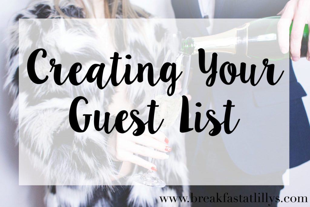 creating your guest list