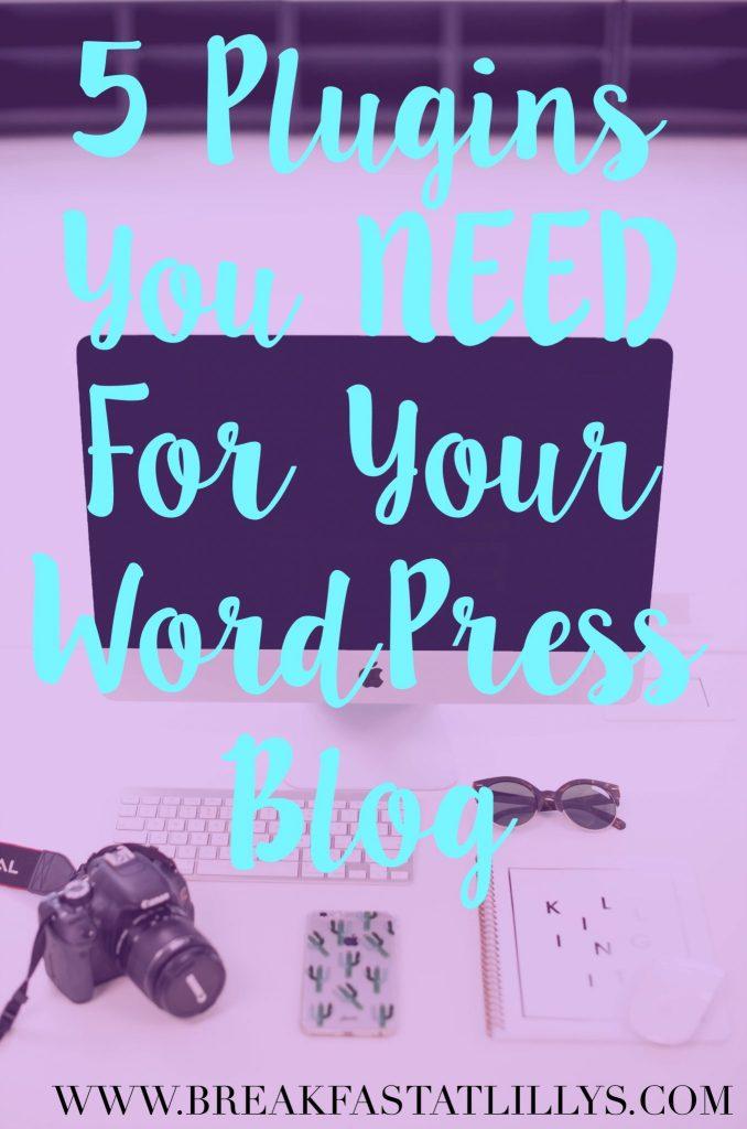 plugins you need for WordPress