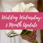Wedding Wednesday: 3 Month Update