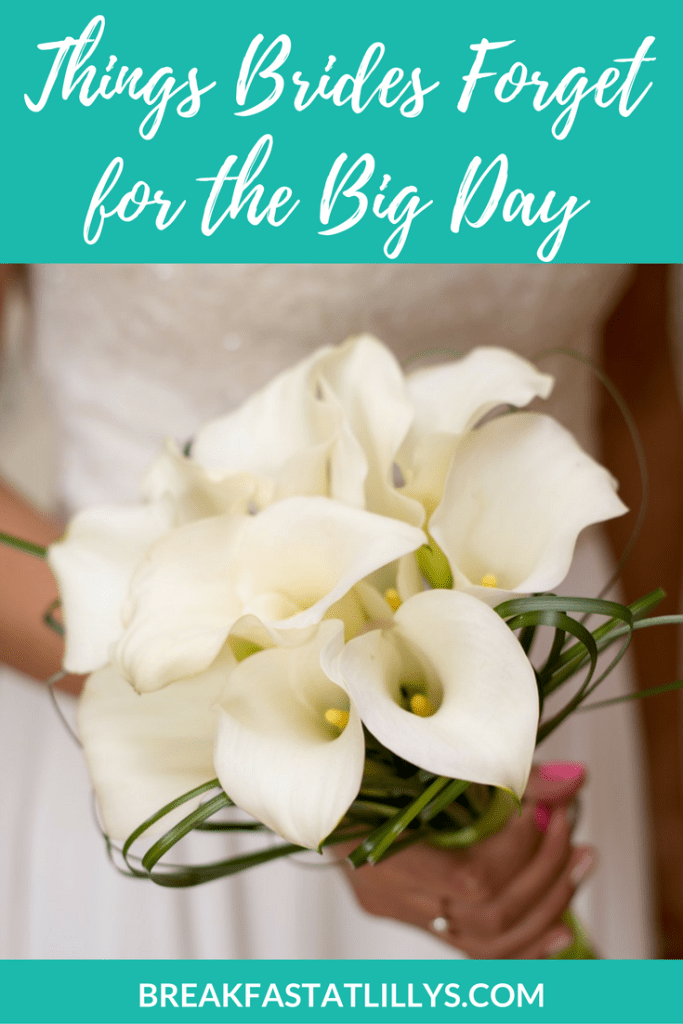 what most brides forget for the big day