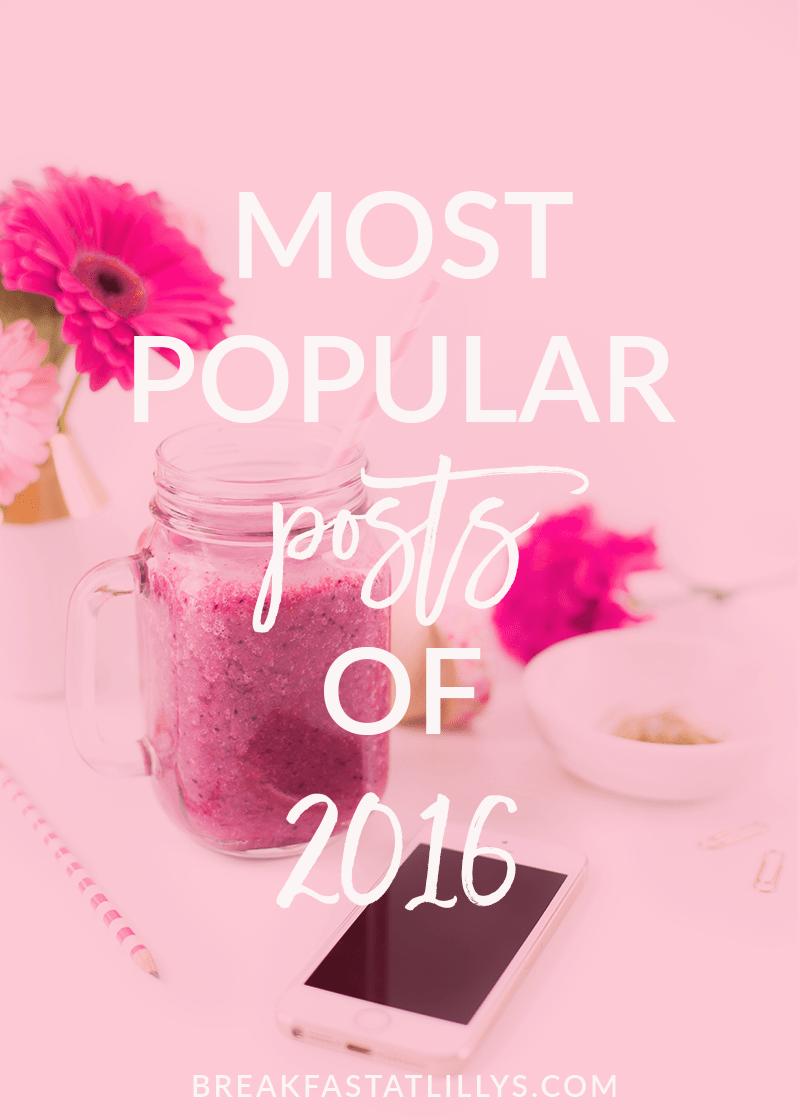 Most Popular Posts of 2016