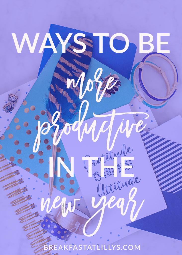 be Productive in the New Year
