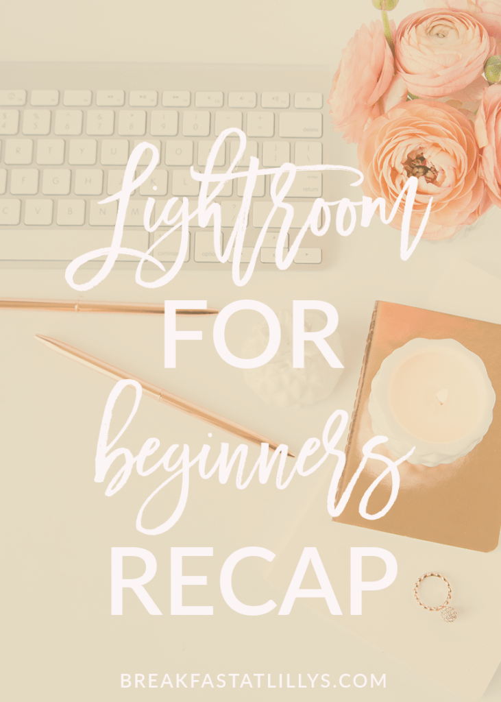 Today I'm sharing a what I learned in my Lightroom for Beginners recap.