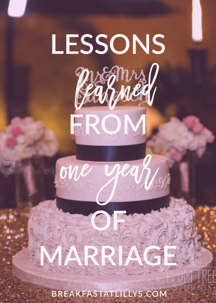 One year of marriage is down in the books. Find out some of the lessons learned from one year of marriage today on Breakfast at Lilly's.