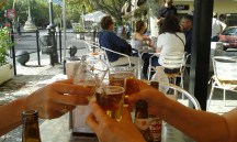 Salud! A beer in El Escorial.