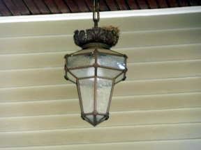 Doesn't look like today's porch lights does it!