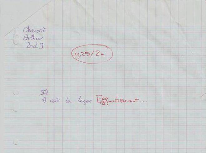 Les meilleures corrections de professeurs sur les copies