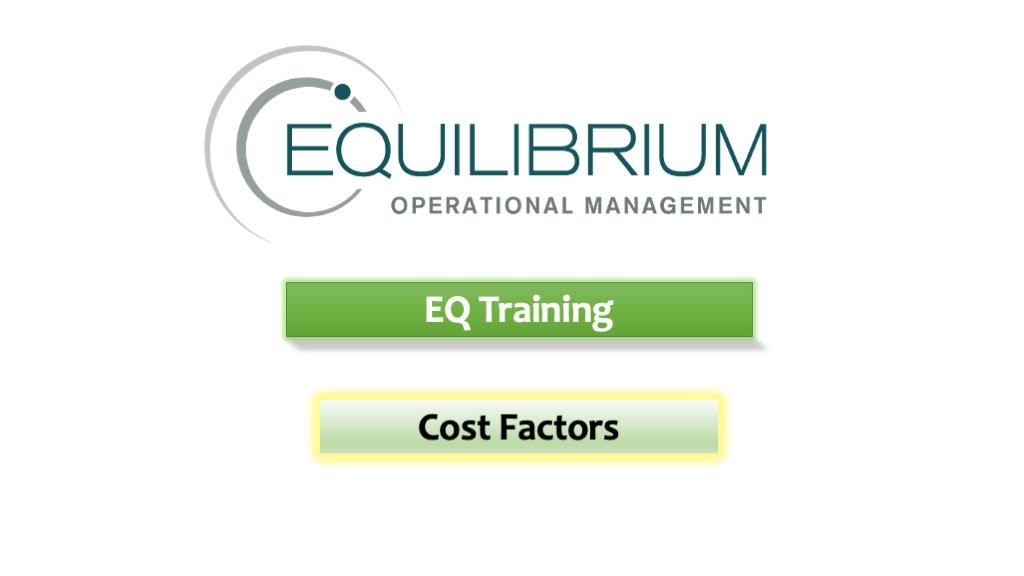 Setting Up Cost Factors
