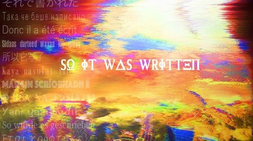 """Cover artwork for Heyzeus - """"So It Was Written"""""""