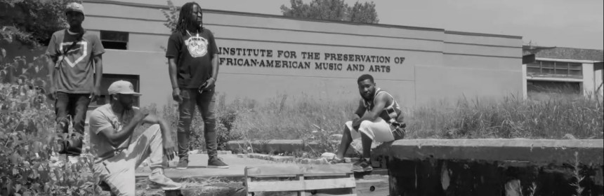 "Video still from Armstrong Ransome, AG Da Gift, LR & Kanaga RMG - ""Growing Pains"""
