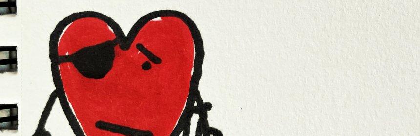 "Cover artwork for Brett Newski Featuring Pat Macdonald - ""Second String Heart"""