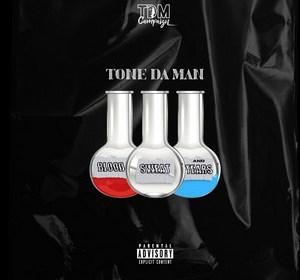 "Cover artwork for Tone Da Man - ""Blood Sweat & Tears"""