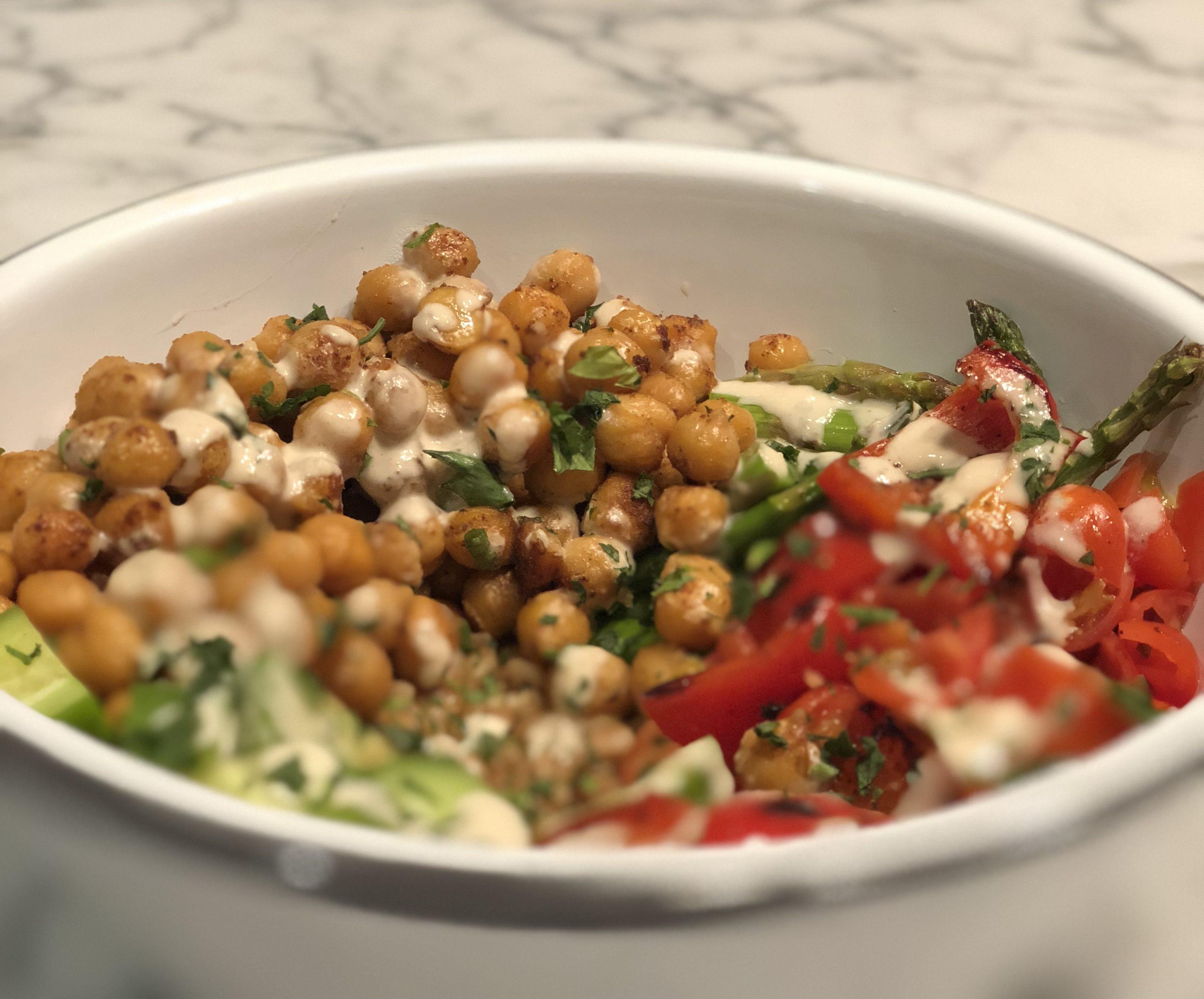 Roasted Chickpea and Farro Salad