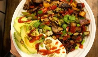 Savory Quinoa and Lentil Breakfast Bowl
