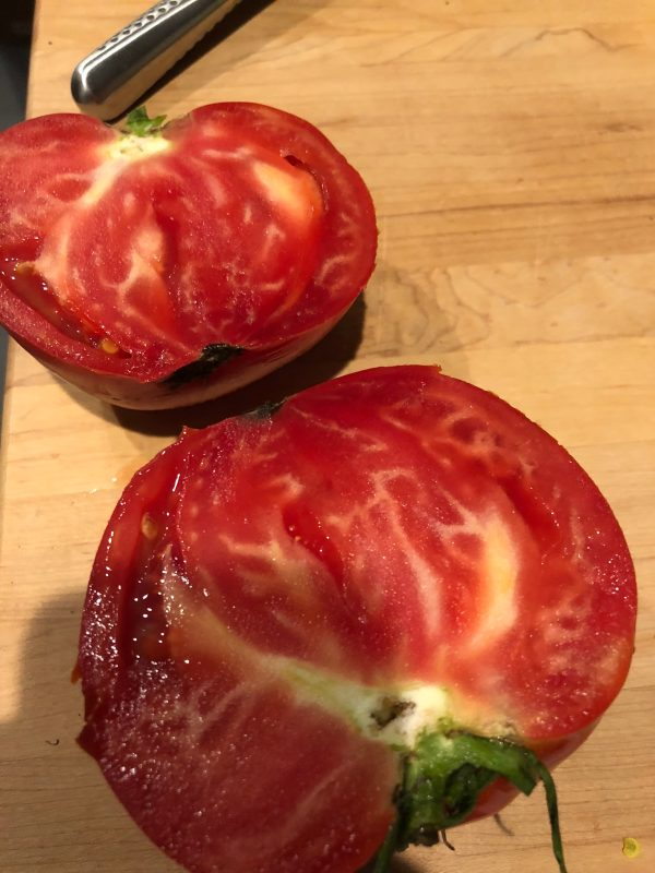 Washed and Sliced Tomato