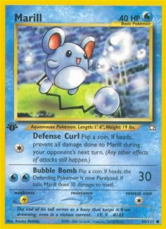 Pokemon Marill Trading Card