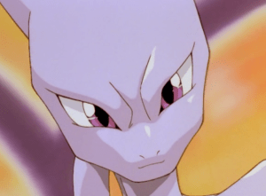 Pokemon The First Movie Mewtwo Smiling