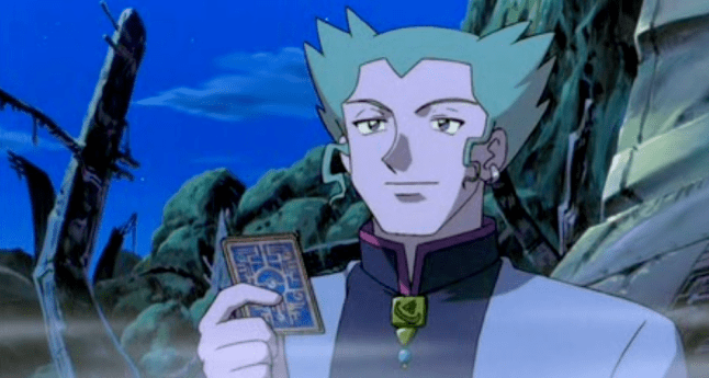 Pokemon The Movie 2000Lawrence III holding Ancient Mew card