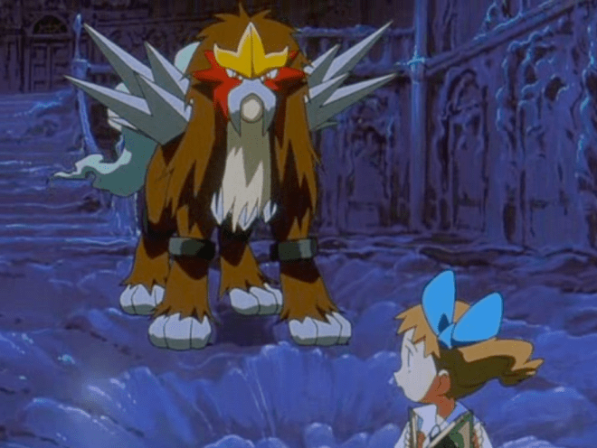 Pokemon 3 The Movie Molly Hale and Entei