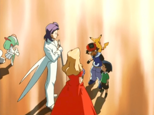 Pokemon Jirachi Wish Maker Ash Ketchum, Max, Butler, and Diane