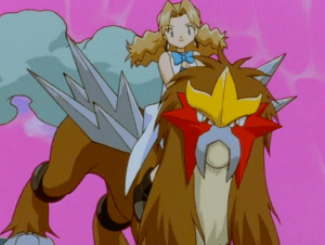 Pokemon 3 The Movie Teenage Molly Hale and Entei