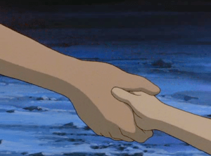 Pokemon 3 The Movie Molly Hale and Delia Ketchum holding hands