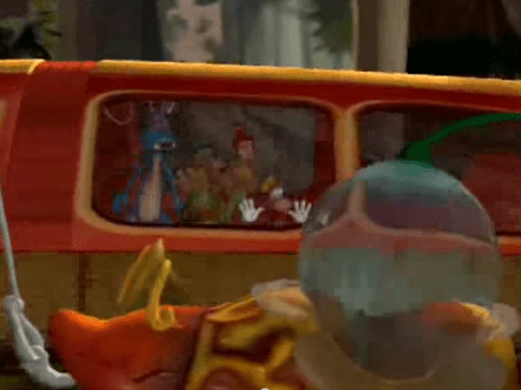 Rayman: The Animated Series Flips trapped in car