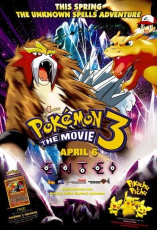 Pokemon 3 The Movie movie poster