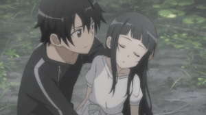 Sword Art Online Kirito finds Yui